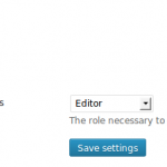 The plugin's settings tab