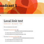 The link test post on Broadcast 1