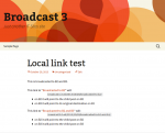 The link test post on Broadcast 3