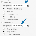 Per Blog Taxonomy options in the meta box