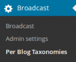 Per Blog Taxonomies in the menu