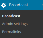 Permalinks in the menu