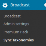 Sync Taxonomies in the menu