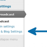 User & Blog Settings menu